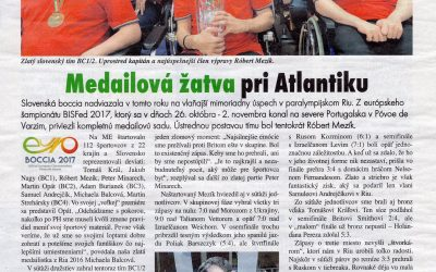 Boccisti v časopise Paralympionik